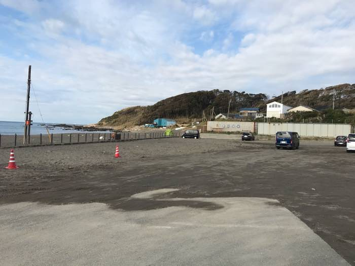 和田長浜海岸無料駐車場1