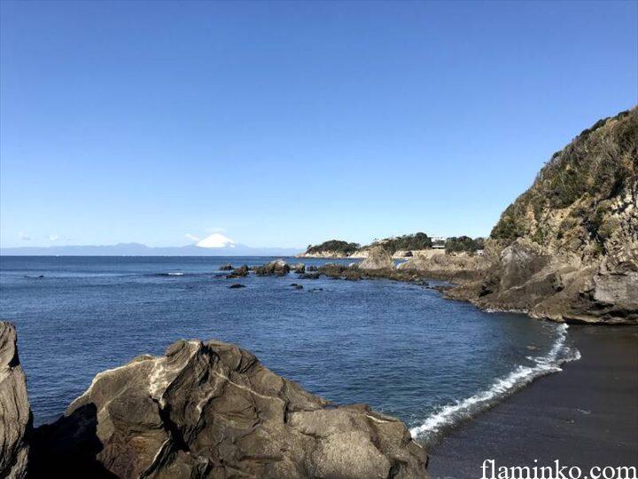 和田長浜海岸 キャンプ 富士山