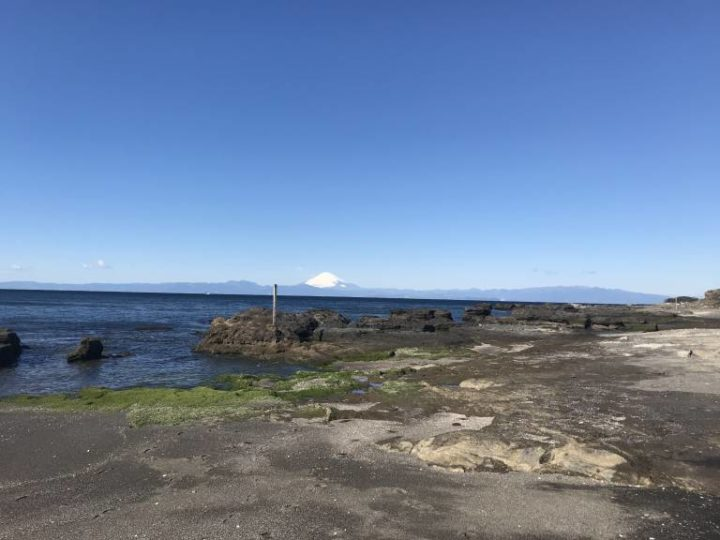 三戸浜海岸北部富士山