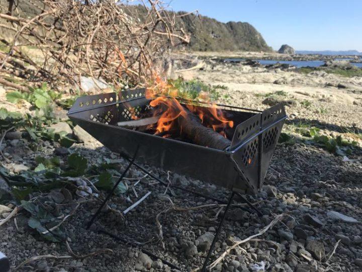 毘沙門海岸焚き火