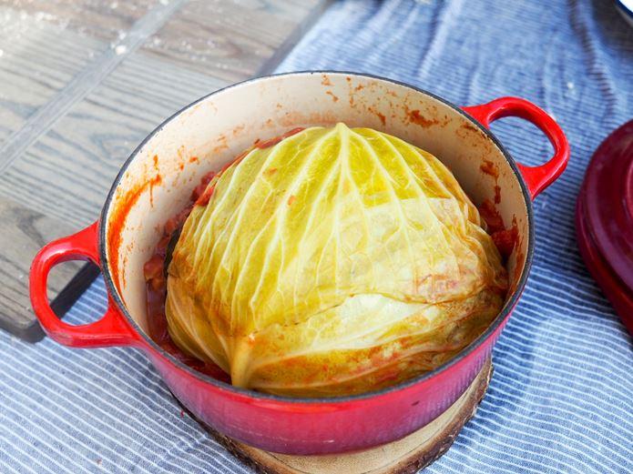 キャンプ料理 丸ごとキャベツ