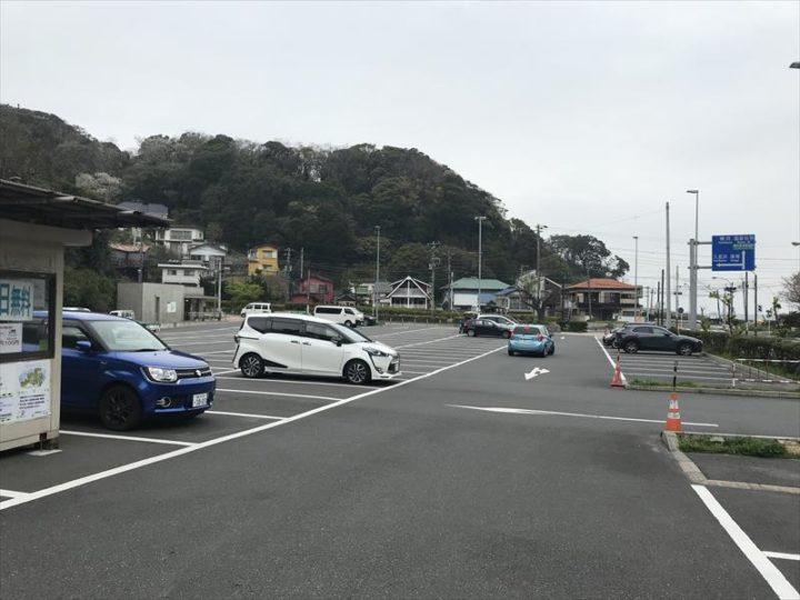 観音崎公園 第2駐車場 駐車スペース