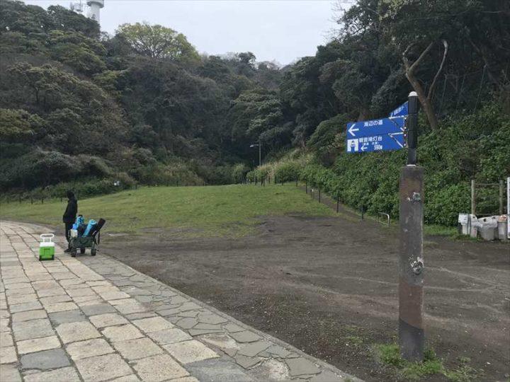 観音崎公園 バーベキューエリア 芝