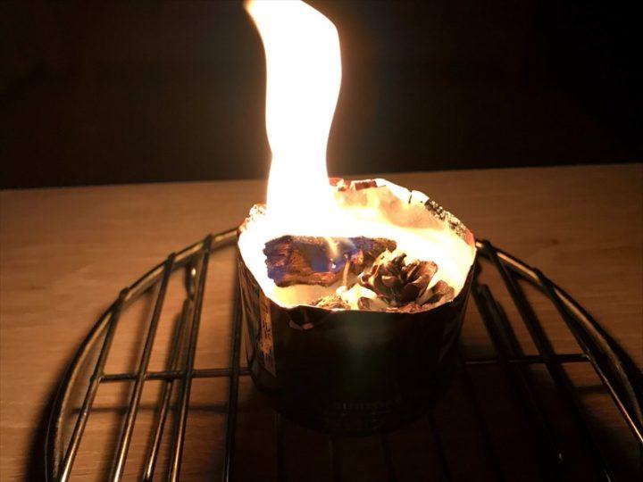 焚き火ろうそく 炎