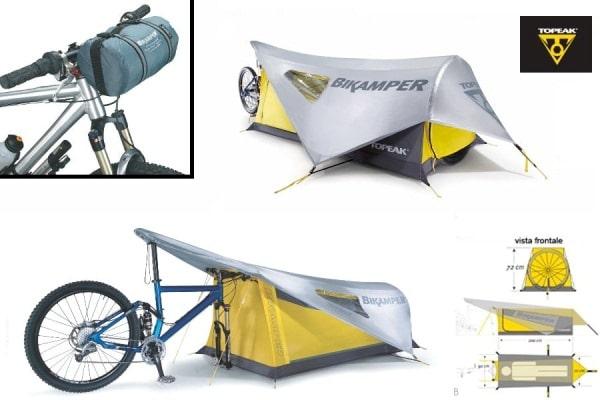 自転車に取り付けるテント