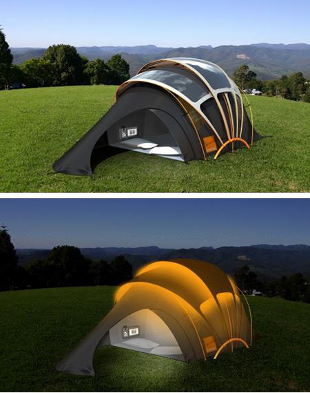 ソーラーパネルテント
