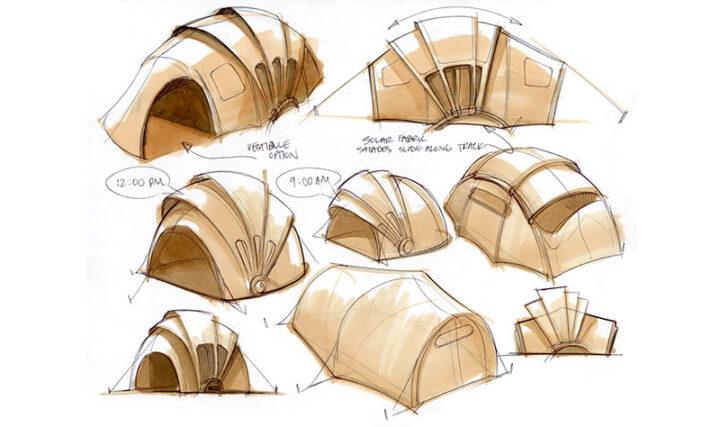 ソーラーパネルテント 設計図