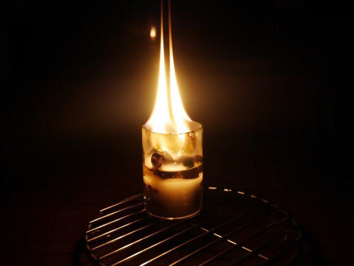 直火OKの耐熱グラスで作る焚き火ろうそく BOROSIL VISION GLASS