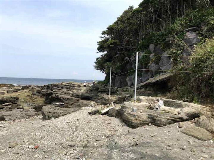 油壺 荒井浜 野営地2