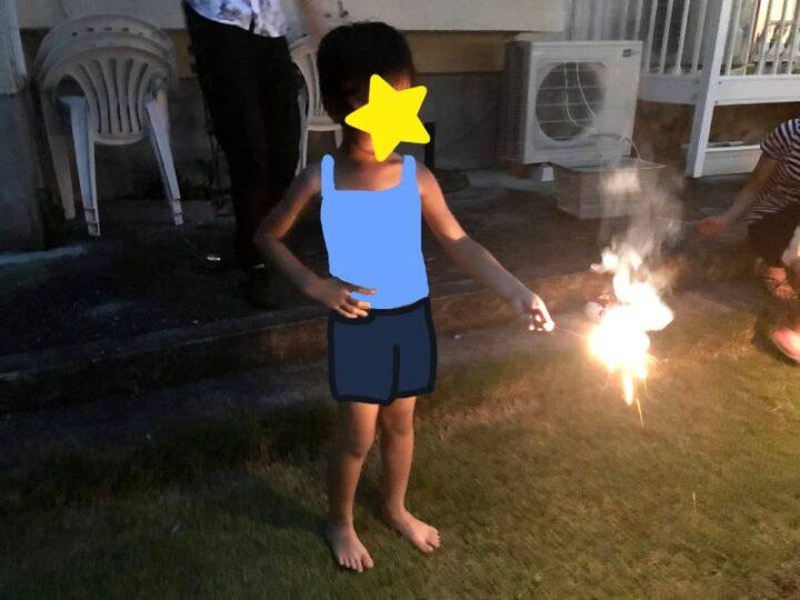 お家でお祭りごっこ 花火