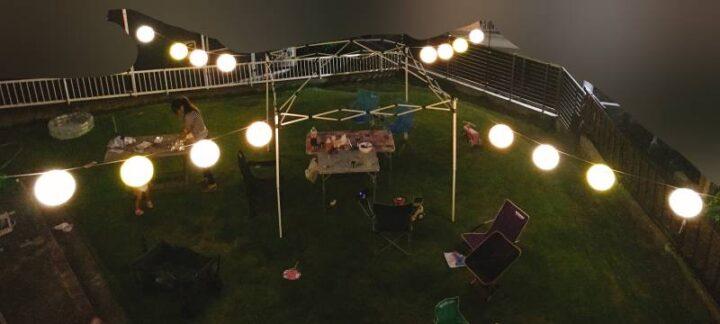 お家でお祭りごっこ 提灯点灯