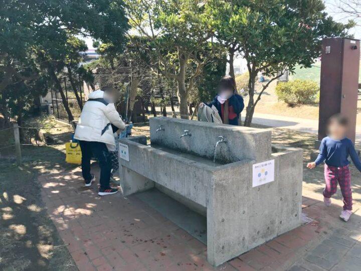 うみかぜ公園 キャンプ 流し台 炊事場2
