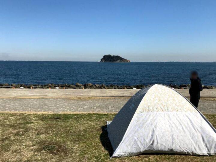 うみかぜ公園 デイキャンプ ポップアップテント