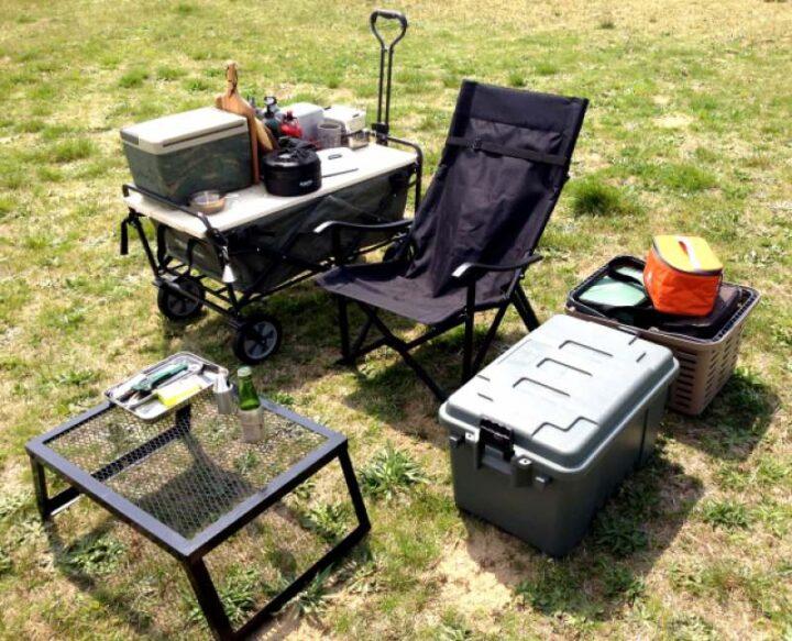 初めてのキャンプ道具 収納コンテナ