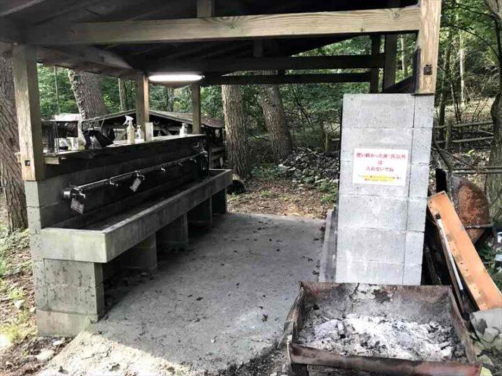 本栖湖いこいの森キャンプ場 炊事場