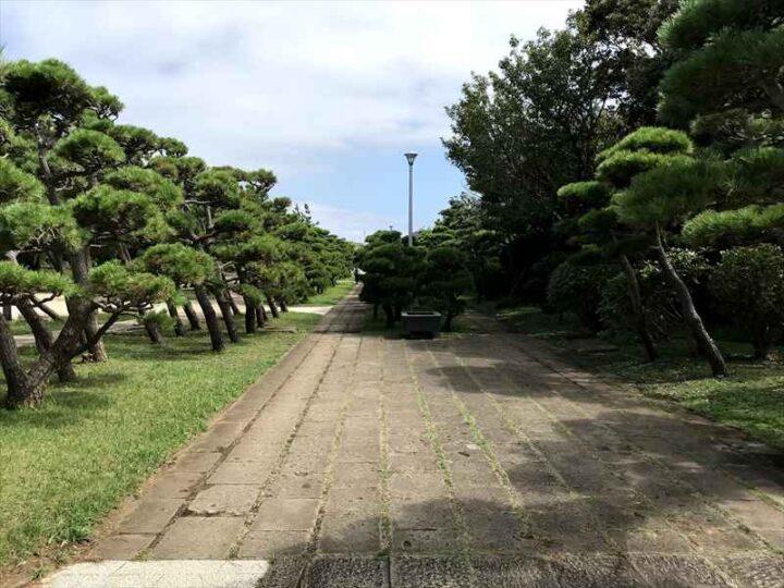 城ヶ島公園 道