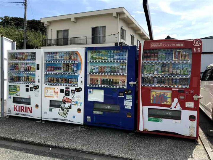 城ヶ島 長津呂の磯 自販機