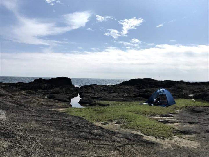 城ヶ島公園 海岸の芝生