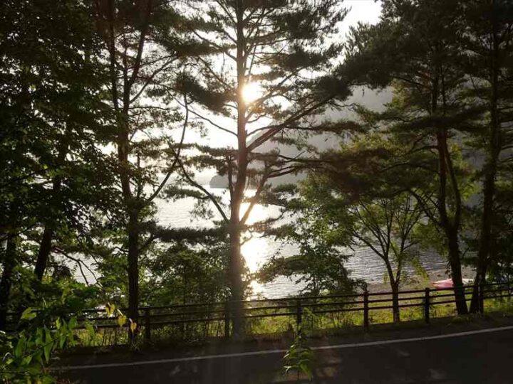 いこいの森キャンプ場 朝日
