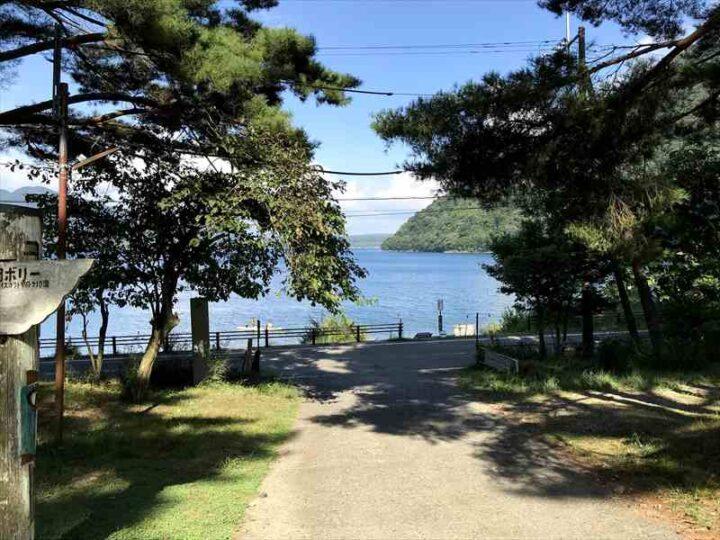 本栖湖いこいの森キャンプ場からの景色