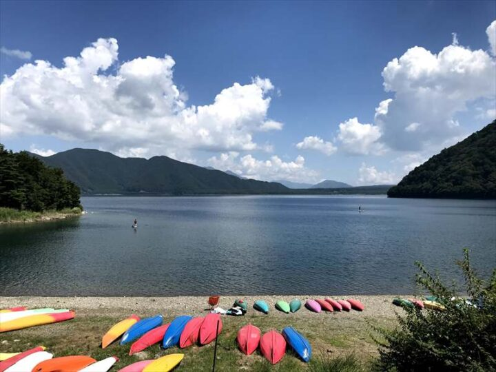 本栖湖いこいの森キャンプ場 景色