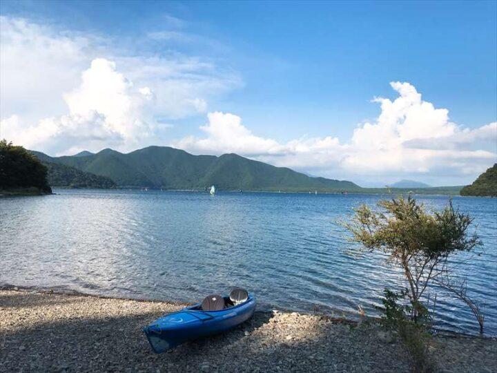 本栖湖いこいの森キャンプ場 きれいな景色