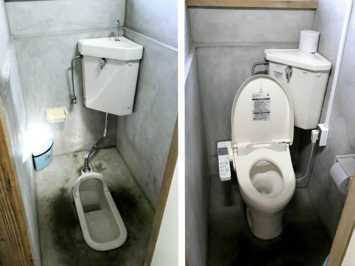 本栖湖いこいの森キャンプ場 トイレ内