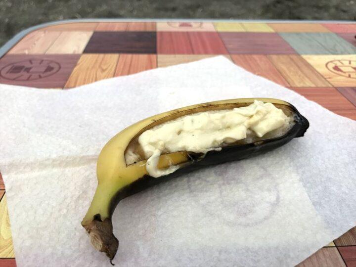 焼きホワイトチョコバナナ