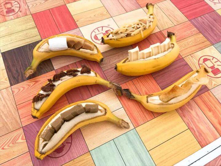 キャンプで焼きバナナ アレンジレシピ