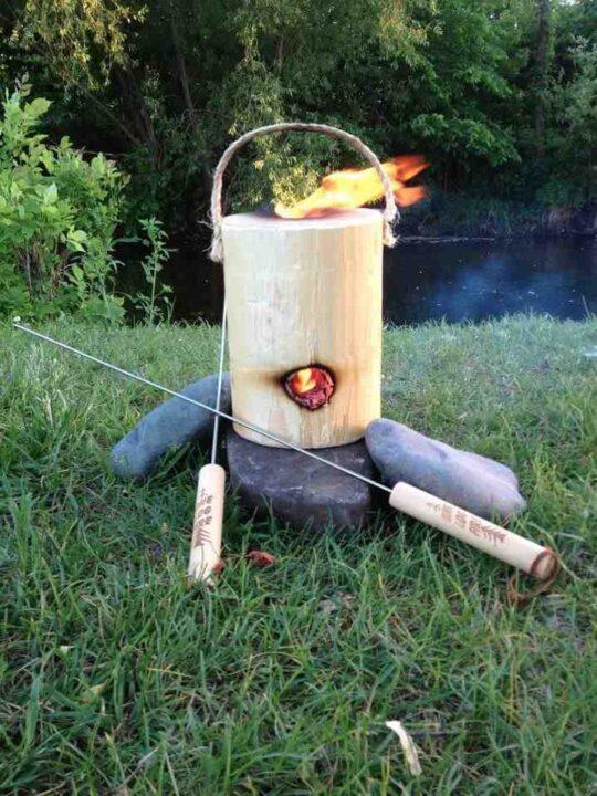 アメリカの焚き火台 ポータブル焚き火台
