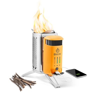 アメリカの焚き火台 充電できる焚き火台