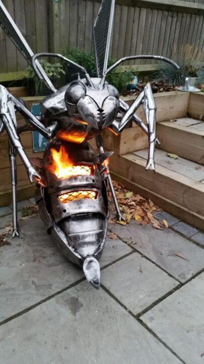 世界の面白い焚火台 ハチ