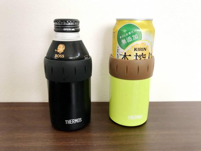 キャンプで便利な小物 サーモス缶ホルダー2
