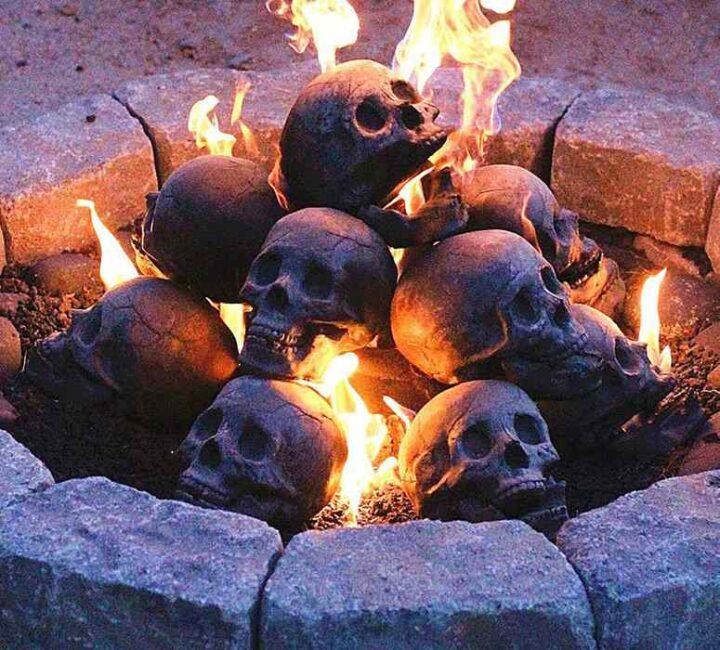 アメリカの焚き火台 骸骨