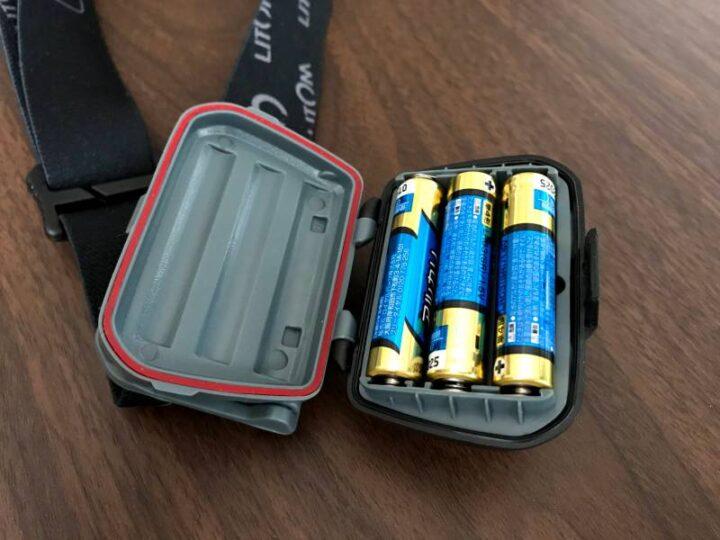 Litom LEDヘッドライト センサー機能付き 電池