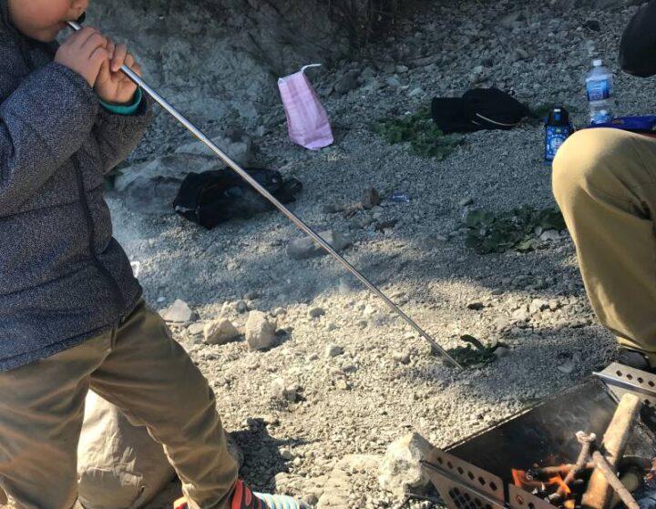 キャンプで便利な小物 火吹き棒