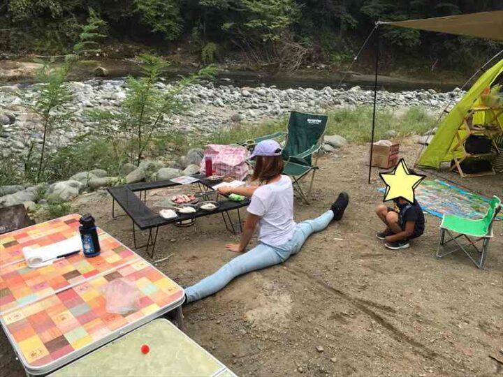 新戸キャンプ場 開脚キャンプ飯
