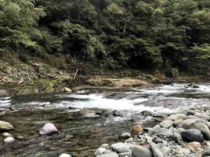 新戸キャンプ場 川2