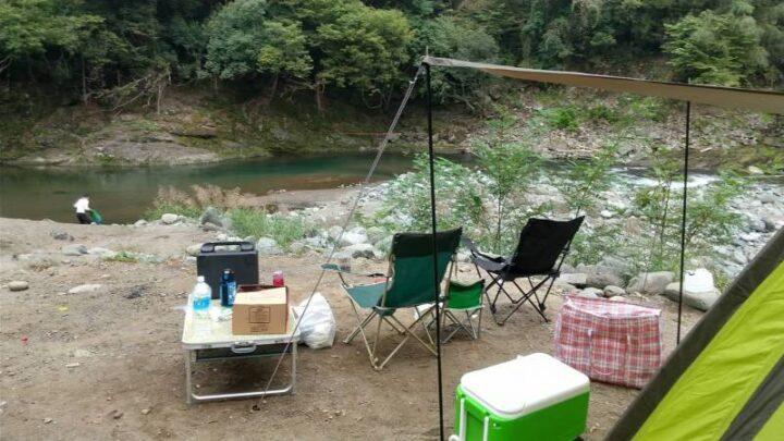 新戸キャンプ場 設営完了