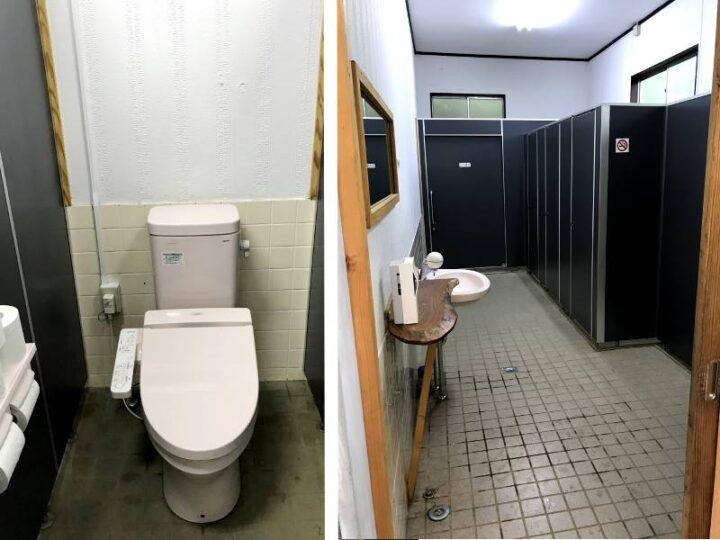新戸キャンプ場 トイレ