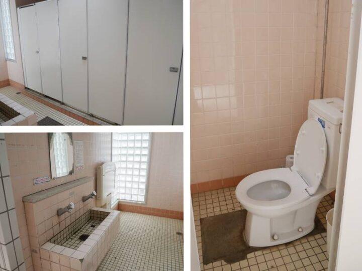 荒崎公園 デイキャンプ トイレ 手洗い