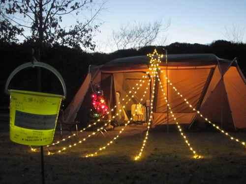 クリスマス キャンプ ポールツリー