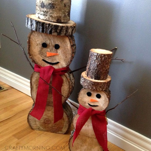 クリスマス キャンプ 木のスノーマン