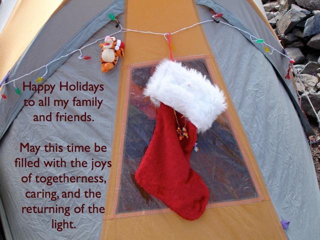 クリスマス キャンプ 靴下