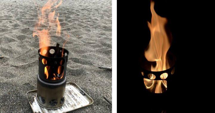 昼と夜の焚き火