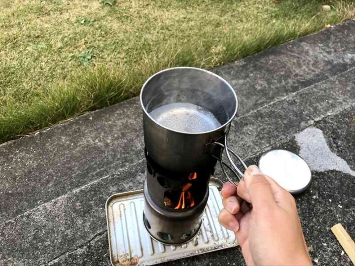 ソロストーブ類似品 お湯が沸く