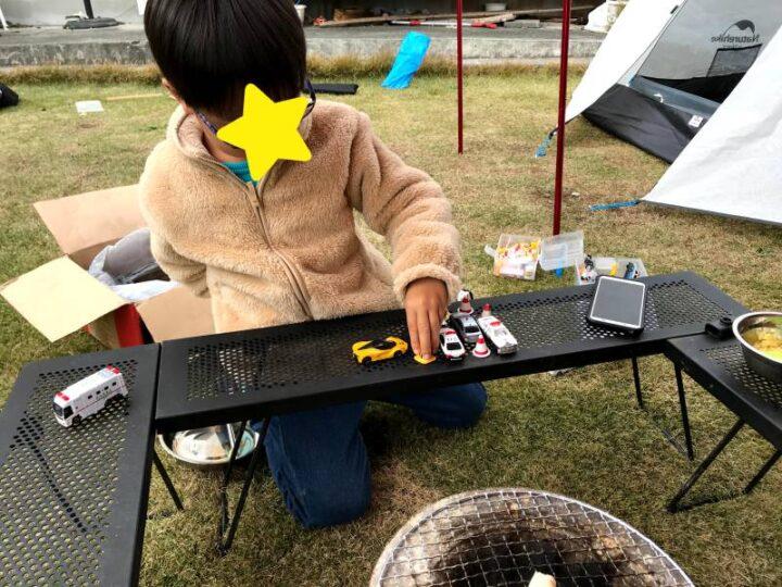 庭 キャンプ 子供が遊ぶ