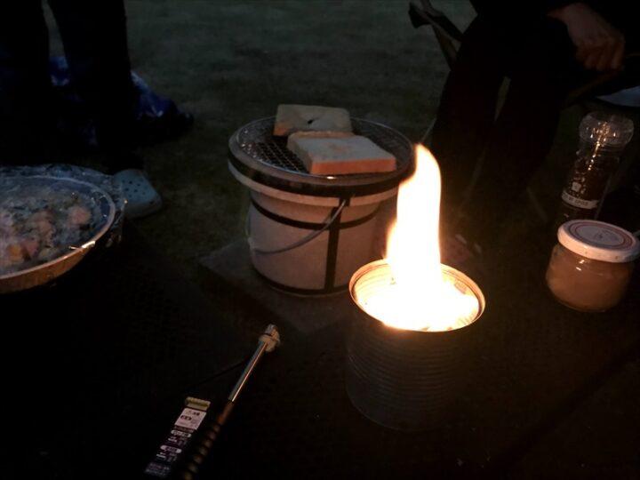 庭 キャンプ 焚き火キャンドル