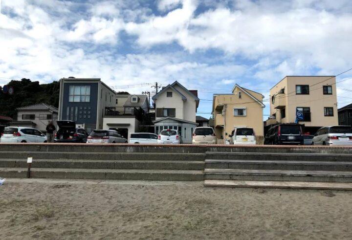 三浦海岸 無料駐車場から近い砂浜