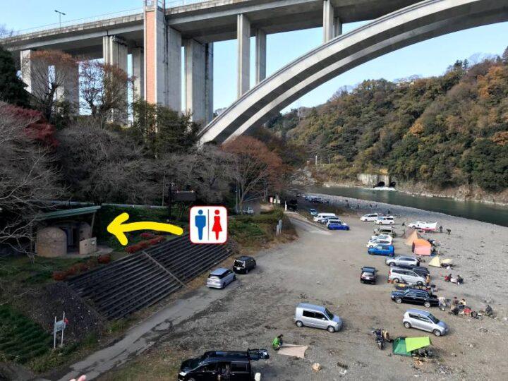 小倉橋 キャンプ トイレ 外観